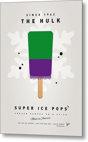 My Superhero Ice Pop - The Hulk Metal Print