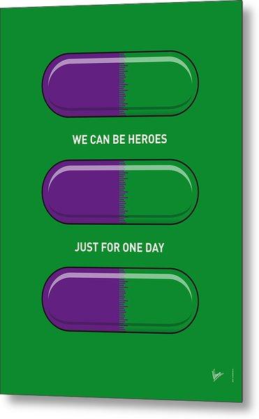 My Superhero Pills - The Hulk Metal Print