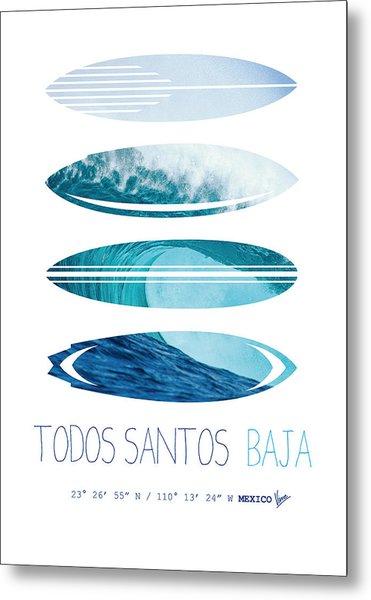 My Surfspots Poster-6-todos-santos-baja Metal Print