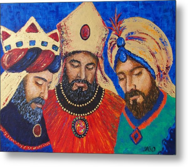 My Three Wise Kings Metal Print by Yamelin Gonzalez-Ortiz