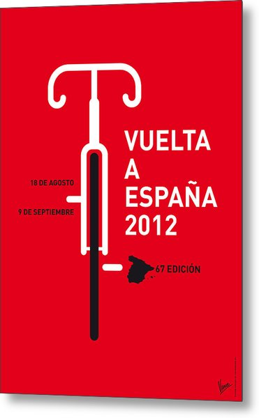 My Vuelta A Espana Minimal Poster Metal Print
