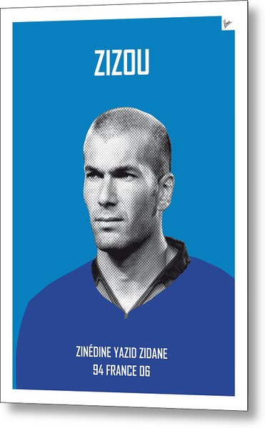 My Zidane Soccer Legend Poster Metal Print