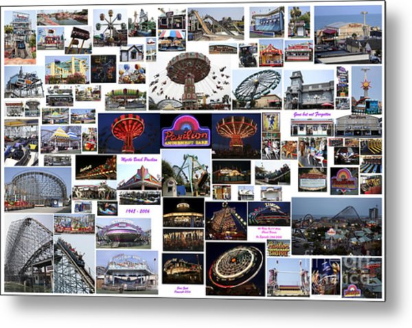 Myrtle Beach Pavilion Collage Metal Print