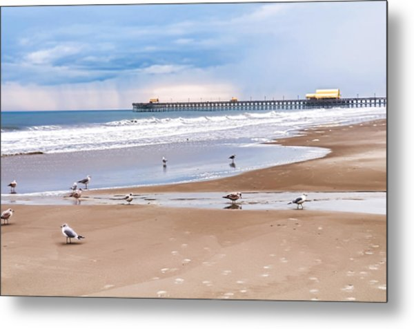 Myrtle Beach - Rainy Day Metal Print