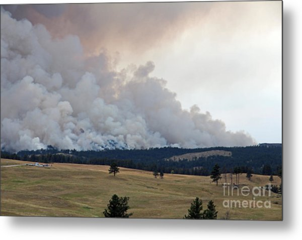 Myrtle Fire West Of Wind Cave National Park Metal Print