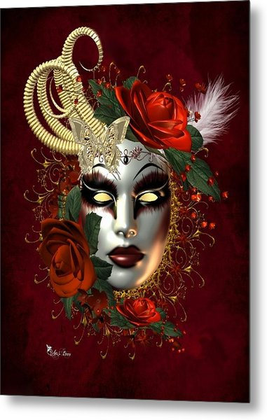 Mysteries Of The Mask 2 Metal Print