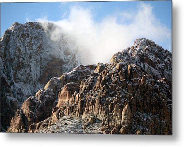 Mysterious Mountain Metal Print