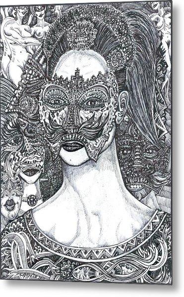 Mystery Girl Metal Print