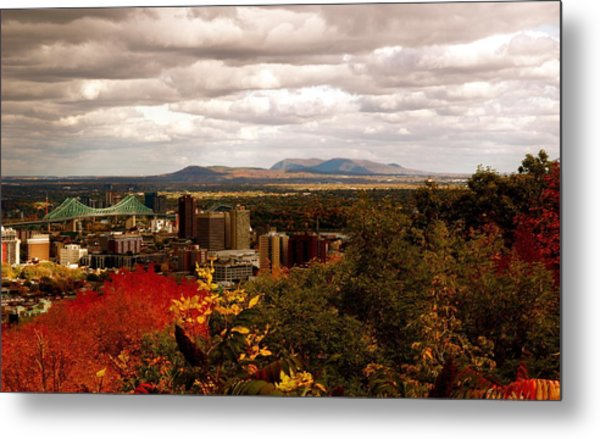 Mystery In Fall In Montreal Metal Print by Jocelyne Choquette