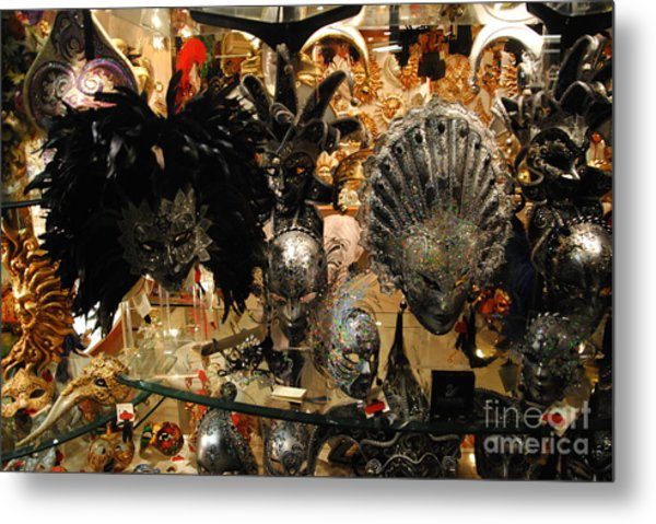 Carnival Of Venice Metal Print by Jacqueline M Lewis