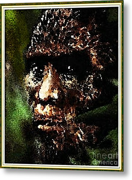 Metal Print featuring the painting Mystery Of Bigfoot by Hartmut Jager