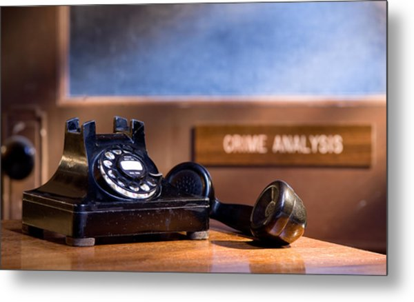 Mystery Phone Call Metal Print