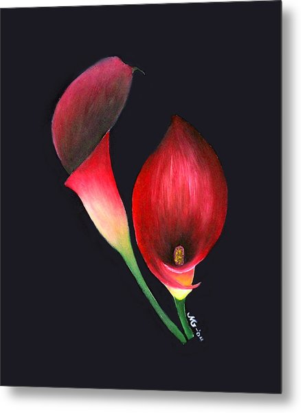 Mystic Calla Lillies Metal Print by Mary Gaines