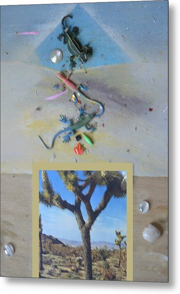 Mystical Desert  A Metal Print by Mary Ann  Leitch