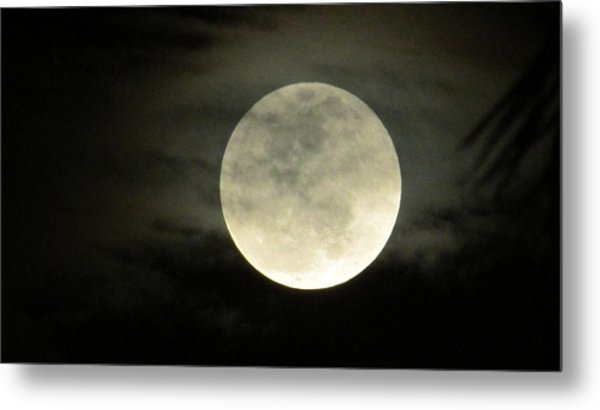 Mystical Moon Over Tampa Metal Print
