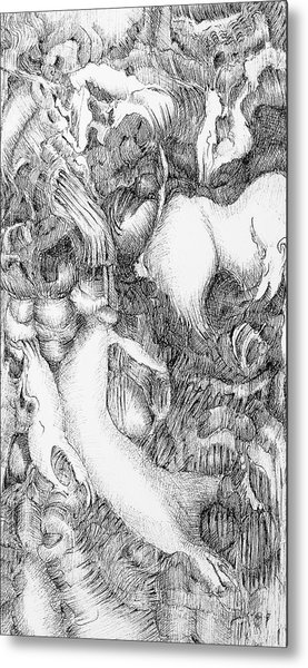 Mythic Menagery Metal Print