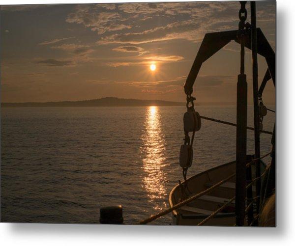 Sunset On Bar Harbor Metal Print by Pro Shutterblade