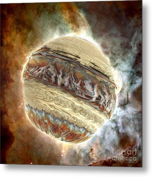 Nacre Planet Metal Print by Bernard MICHEL