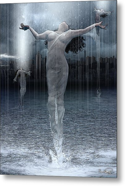 Naiads Water Nymph Metal Print