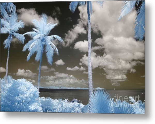 Nail Bay Infrared Metal Print