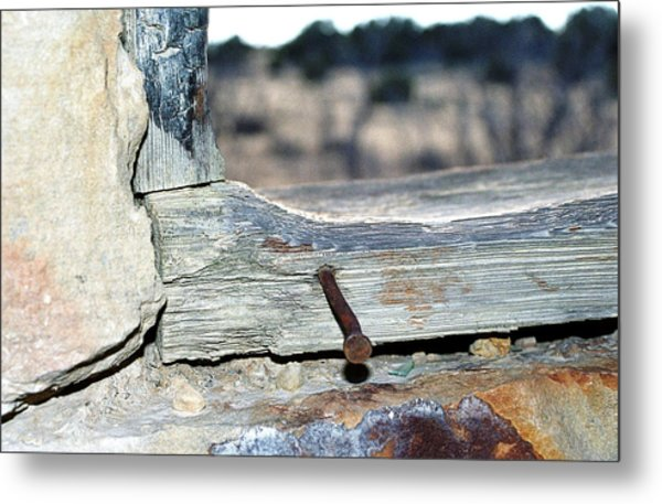 Nail On The Trail Metal Print