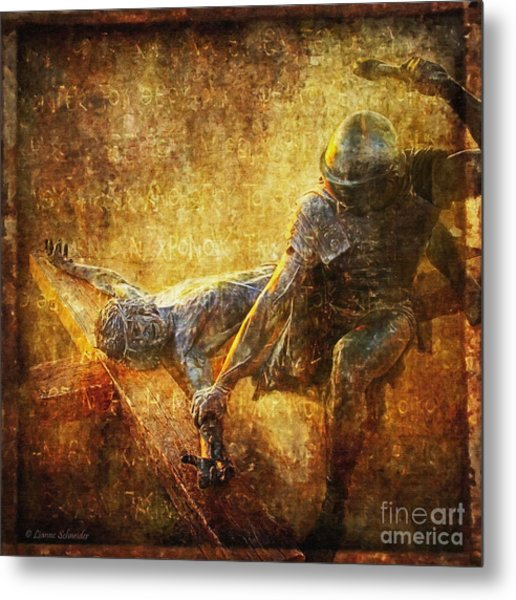 Nailed To The Cross Via Dolorosa 11 Metal Print
