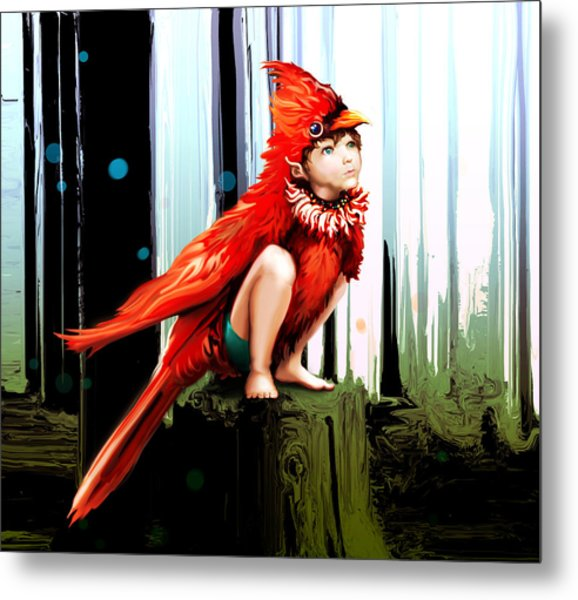 Naive Trickster Metal Print by Terre Britton