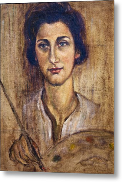 Nancy Kominsky - A Self-portrait Metal Print by    Michaelalonzo   Kominsky