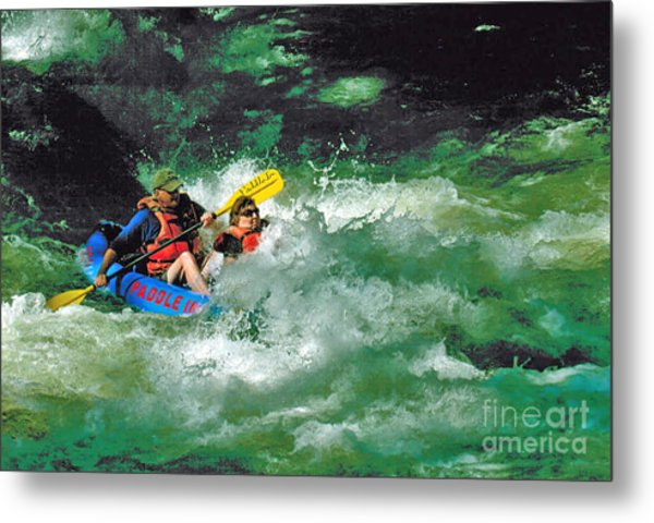 Nantahala Fun Metal Print by Don F  Bradford