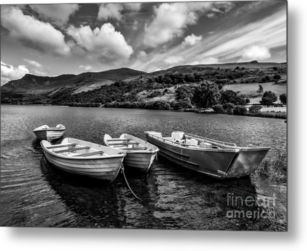 Metal Print featuring the photograph Nantlle Uchaf Boats by Adrian Evans