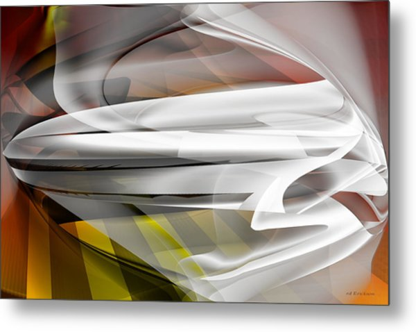 Metal Print featuring the digital art Napkin Folding - Abstract by rd Erickson