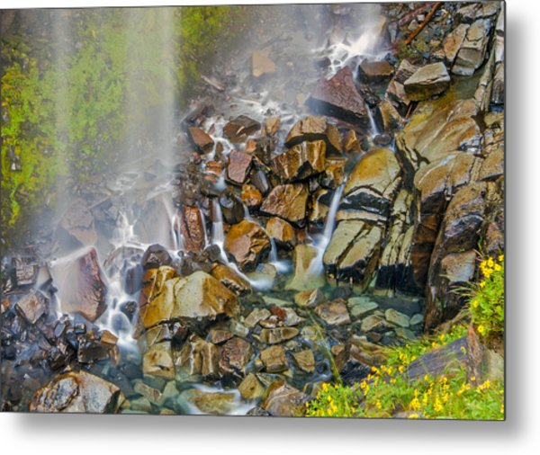 Narada Falls Mount Rainier National Park Metal Print