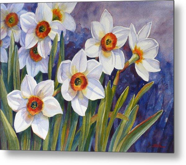 Narcissus Daffodil Flowers Metal Print