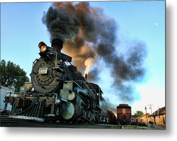 Narrow Gauge Steamer Metal Print