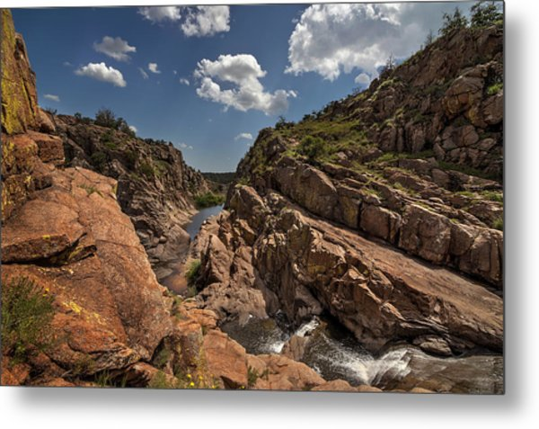 Narrows Canyon In The Wichita Mountains Metal Print