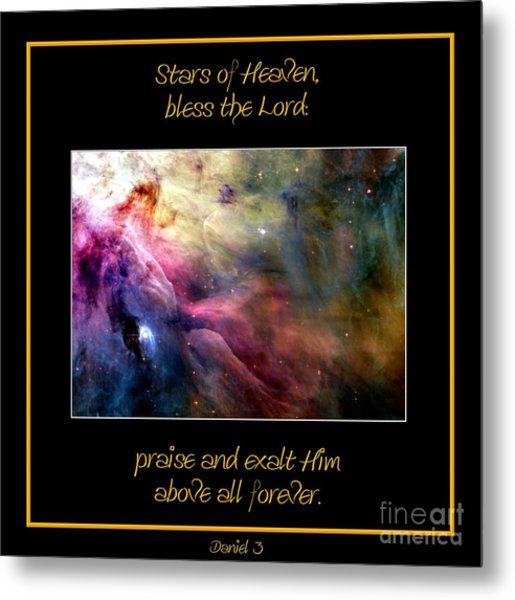 Metal Print featuring the photograph Nasa Ll Ori And The Orion Nebula Stars Of Heaven Bless The Lord by Rose Santuci-Sofranko
