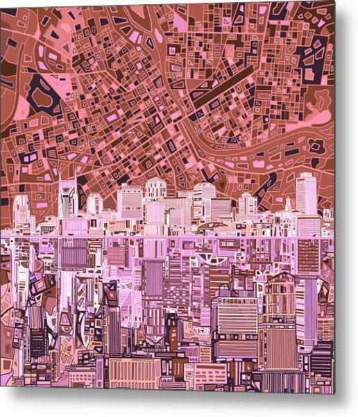 Nashville Skyline Abstract 7 Metal Print