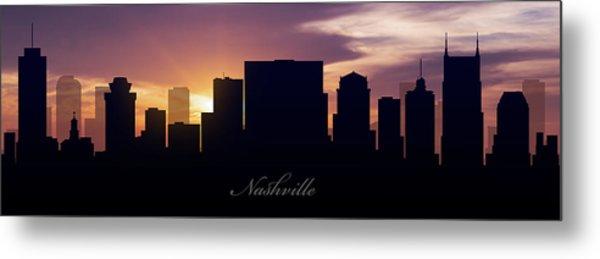 Nashville Sunset Metal Print