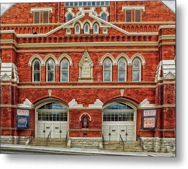 Nashville's Historic Ryman Auditorium Metal Print