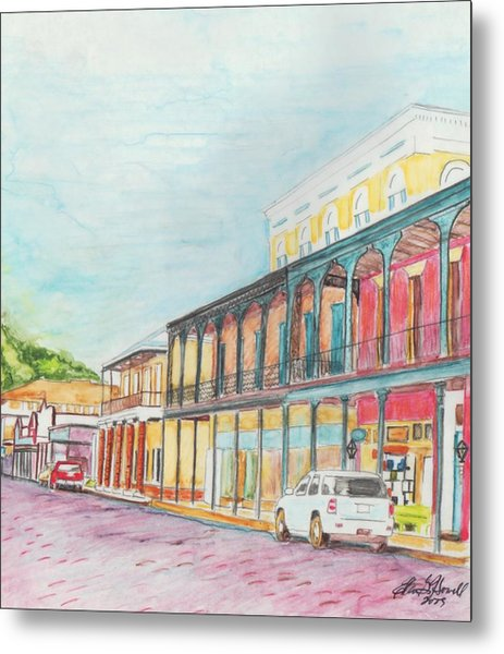 Natchitoches Front Street Metal Print by Ellen Howell