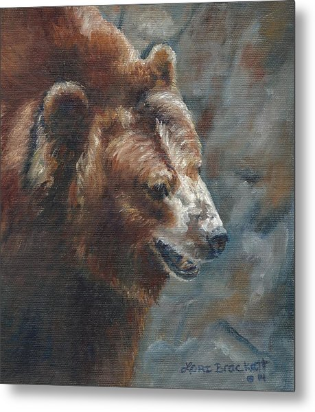 Nate - The Bear Metal Print