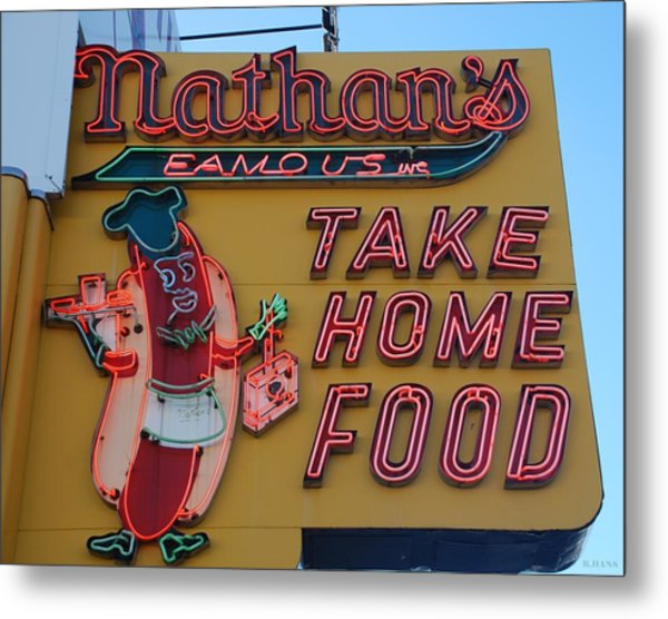 Metal Print featuring the photograph Nathan's Famous by Rob Hans