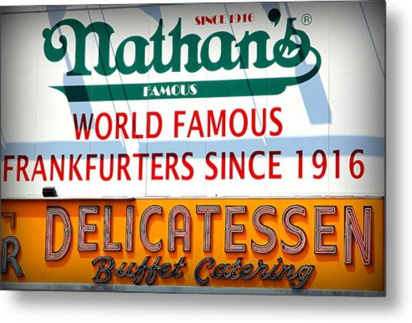 Nathan's Sign Metal Print