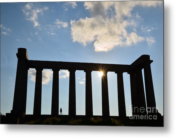 National Monument Of Scotland In Edinburgh Metal Print