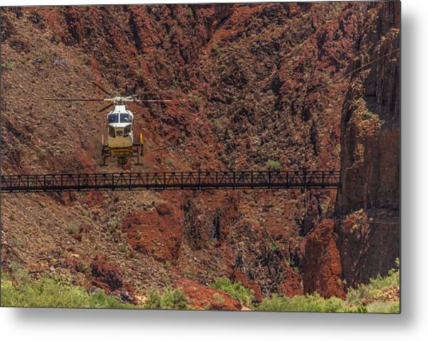 National Park Helicopter Metal Print