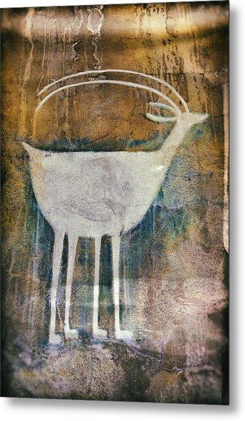 Native American Deer Pictograph Metal Print