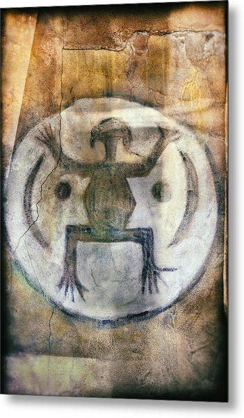 Native American Frog Pictograph Metal Print