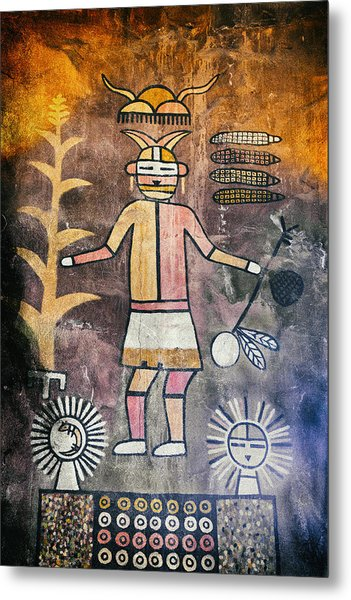Native American Harvest Pictograph Metal Print