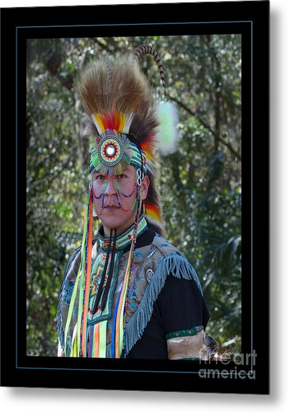Native American Portrait Metal Print