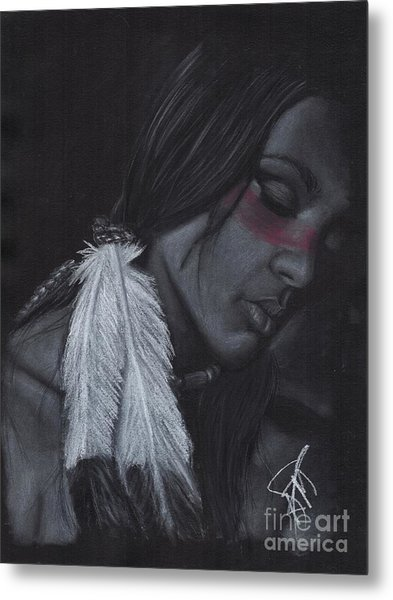Native American Metal Print by Rosalinda Markle